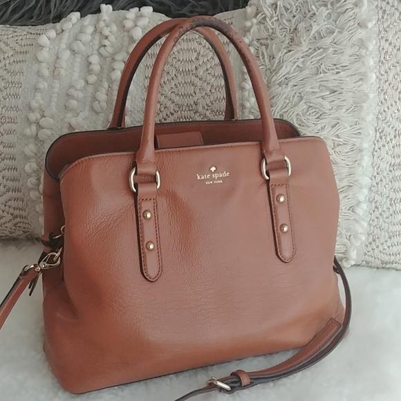 Kate Spade Evangelie Camel leather satchel